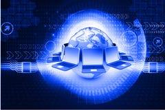 Réseau informatique global dessus Photographie stock