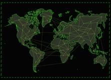 Réseau Internet de carte du monde photo libre de droits