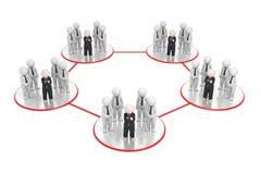 Réseau - les affaires 3d teams le réseau Photo libre de droits