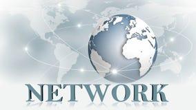 RÉSEAU - lettres 3D devant des affaires de fond ou le concept d'Internet du réseau global illustration stock