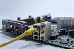 réseau local global de jonction de câble Photo libre de droits