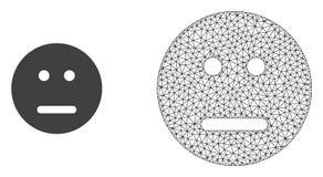 Réseau Mesh Neutral Smiley de vecteur et icône plate illustration libre de droits
