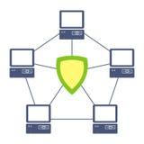 réseau protégé illustration libre de droits