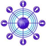 Réseau social (07) Images stock