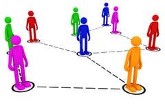 Réseau social illustration de vecteur