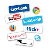 Réseau social Image stock