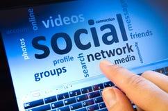 Réseau social Images stock