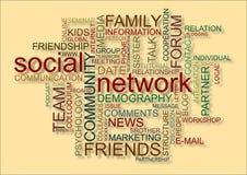 Réseau social Photo stock