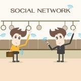 Réseau social Photo libre de droits