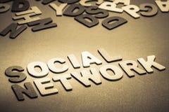 Réseau social Photographie stock libre de droits