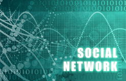 Réseau social Photos stock