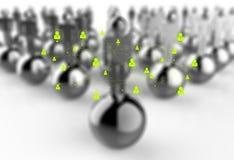 Réseau social 3d comme concept illustration de vecteur