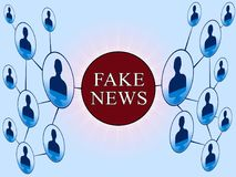 Réseau social de media de fausse illustration des actualités 3d illustration stock