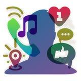 Réseau social, illustration du vecteur Eps10. Image stock