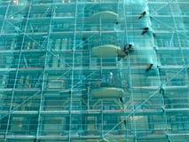 Réseau vert de construction masquant, groupes d'industrie, Photos libres de droits