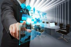 réseau virtuel d'affaires Photographie stock