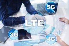 Réseaux de LTE concept mobile de l'Internet 5G et de la technologie Images libres de droits