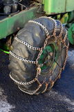 Réseaux de neige de pneu Images stock