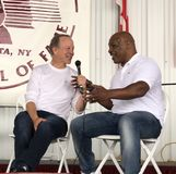 Réseaux Jim Gray de fer Mike Tyson et de Showtime image libre de droits