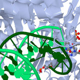 Réseaux moléculaires multicolores sur le fond blanc Photos stock