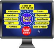 Réseaux sociaux Image stock