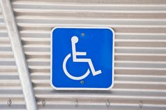 Réservé pour handicapé Image libre de droits