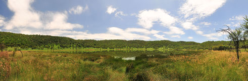 Réservation de cratère de météorite de Tswaing Photos stock