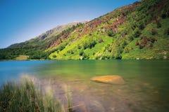 Réservation de Teberda, gel de Tumanly de lac Photos stock