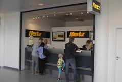 Réservation de véhicule de location de DENMARK_hertz Photographie stock libre de droits