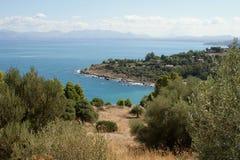 Réservation naturelle de Zingaro, Sicile, Italie Photo libre de droits