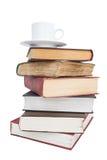 réserve la pile de cuvette de café Photo libre de droits