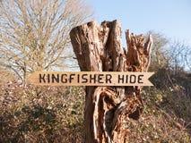 Réserve naturelle de mèche de Fingringhoe en dehors de campagne de campagne de l'espace de fond de paysage ; bois de signe de mar photographie stock libre de droits