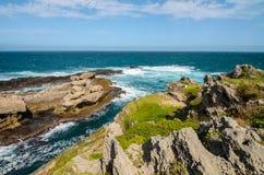 Réserve naturelle de Robberg, itinéraire de jardin, paysage de l'Afrique du Sud Photo stock