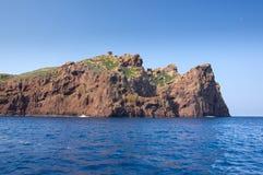 Réserve naturelle de Scandola, site de patrimoine mondial de l'UNESCO, Corse, franc Photographie stock libre de droits