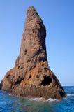 Réserve naturelle de Scandola, site de patrimoine mondial de l'UNESCO, Corse, franc Photo stock