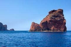 Réserve naturelle de Scandola, site de patrimoine mondial de l'UNESCO, Corse, franc Image libre de droits