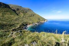 Réserve naturelle de Zingaro, Sicile, Italie Image libre de droits