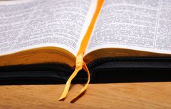 Réservez la bible photographie stock libre de droits