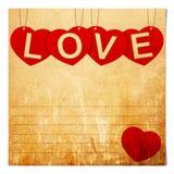 Réservez le fond de papier de valentine Photographie stock libre de droits