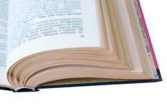 Réservez les pages, livre à leur tour, les feuilles blanches de livres avec les lettres noires Images libres de droits