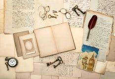 Réservez, photo de Londres, accessoires de vintage Image libre de droits
