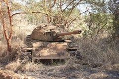 Réservoir détruit au Soudan du sud images stock