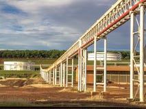Réservoir d'éthanol dans l'industrie photo stock
