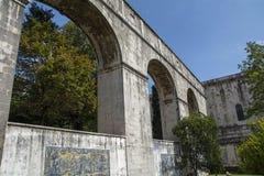 Réservoir d'Amoreiras de gua de  de Mãe D'à - le temple de l'eau Photographie stock libre de droits
