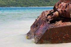 Réservoir d'armée de plage de flamenco Photographie stock libre de droits