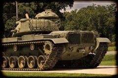 Réservoir d'armée M60 commémoratif de la deuxième guerre mondiale modifié la tonalité Image libre de droits