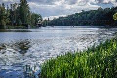 Réservoir d'eau à Chernobyl Photos libres de droits
