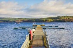 Réservoir d'eau de Kielder, le Northumberland, Angleterre Photos libres de droits