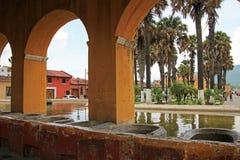 Réservoir d'eau des syndicats de La à l'Antigua, Guatemala Photographie stock libre de droits