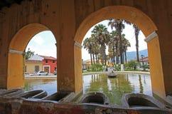 Réservoir d'eau des syndicats de La à l'Antigua, Guatemala Images libres de droits